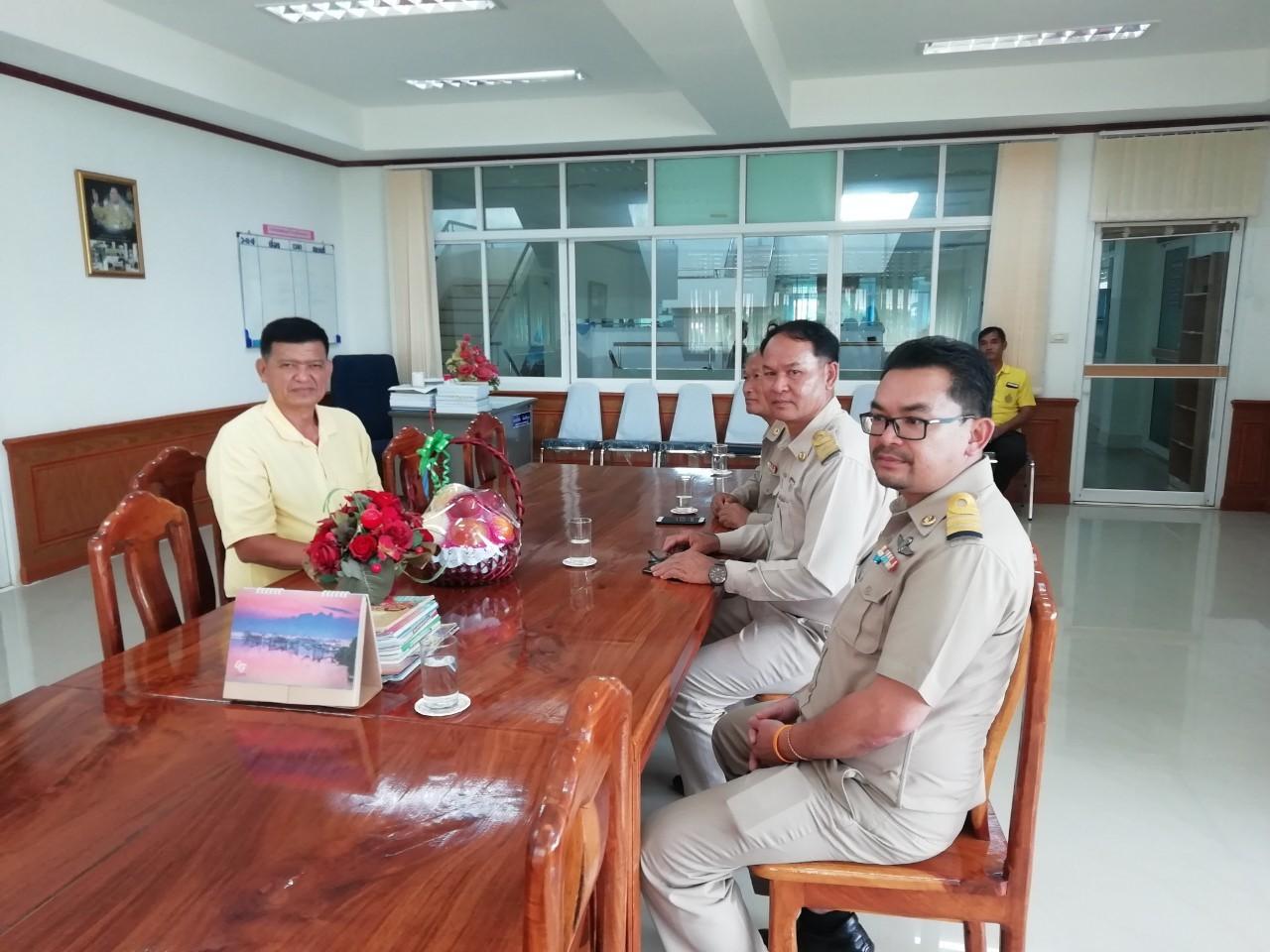 กปภ.สาขาลำปลายมาศเข้าพบหัวหน้าส่วนราชการร่วมประชุมเกี่ยวกับสถานการณ์น้ำ