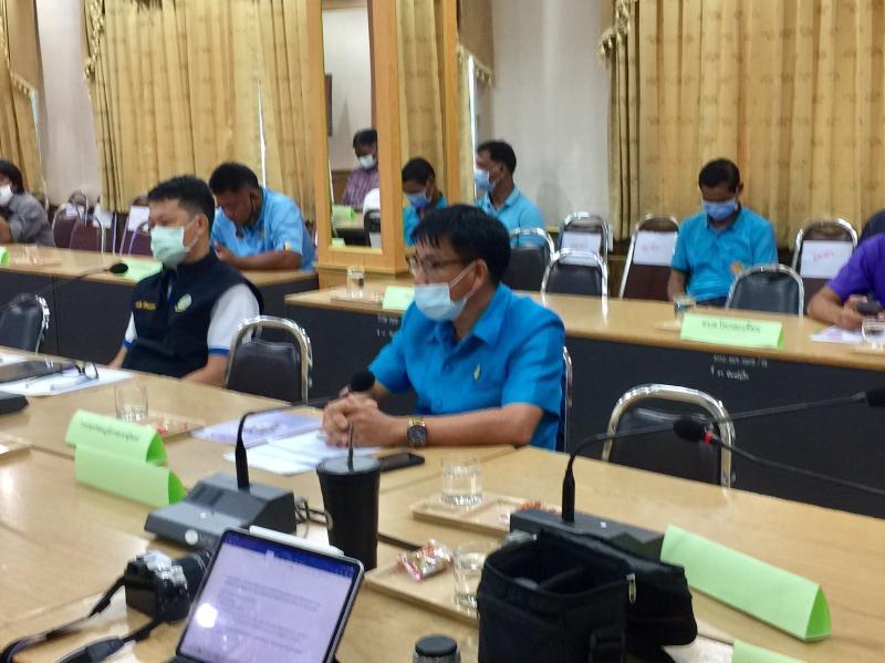 กปภ.สาขาสุรินทร์ร่วมประชุมเพื่อนำเสนอแนวนโยบายและแผนงานการบริหารจัดการลุ่มน้ำห้วยเสนง