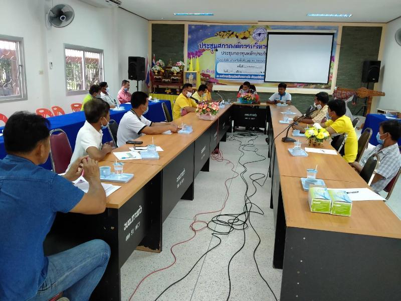 กปภ.สาขาศีขรภูมิร่วมการประชุมคณะกรรมการจัดการชลประทาน (JMC) อ่างเก็บน้ำห้วยลำพอก