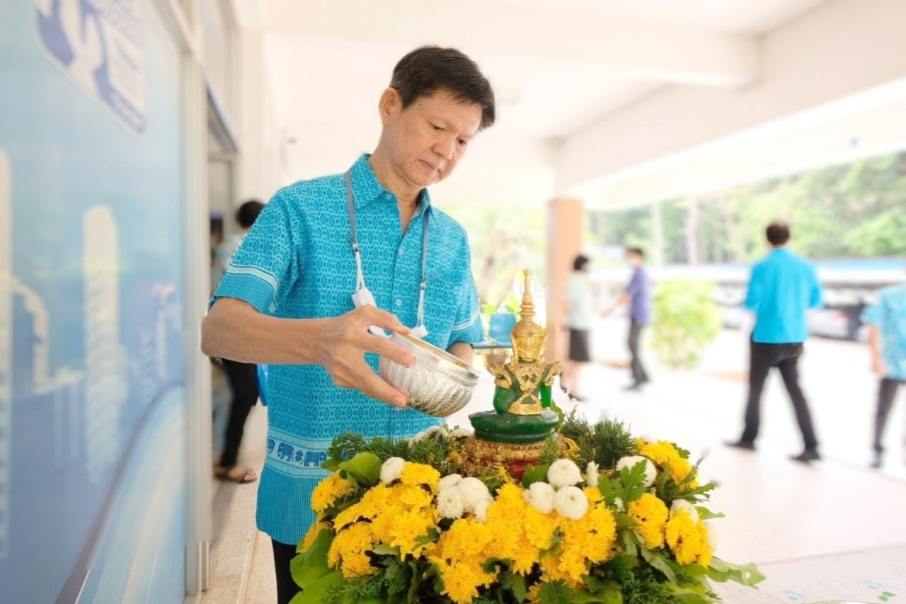 กปภ.ข.8 จัดพิธีสรงน้ำพระเนื่องในวันสงกรานต์ ร่วมสืบสานวัฒนธรรมประเพณีไทย