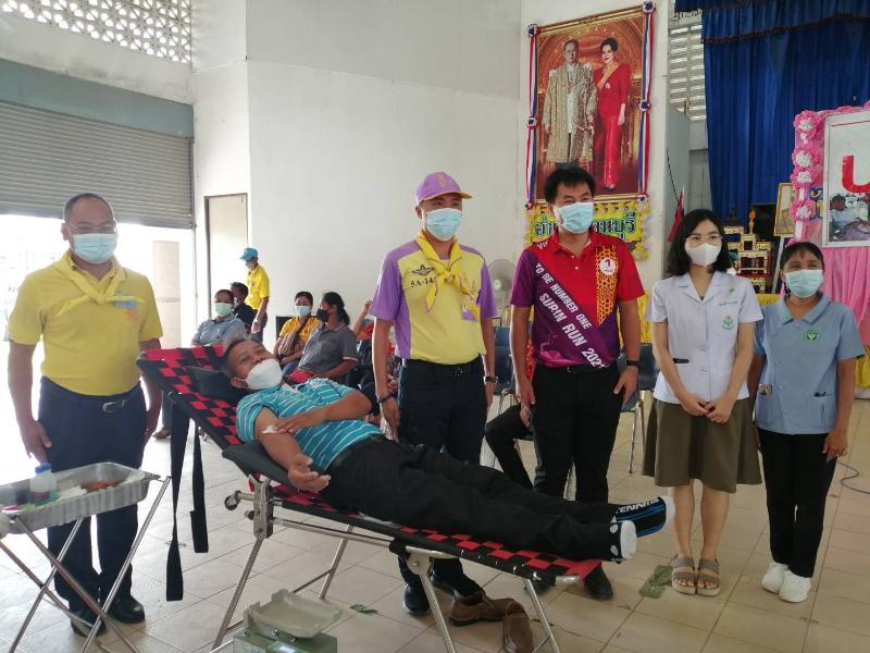 กปภ.สาขารัตนบุรี ร่วมสนับสนุนน้ำดื่ม และร่วมบริจาคโลหิต เดือนตุลาคม 2564