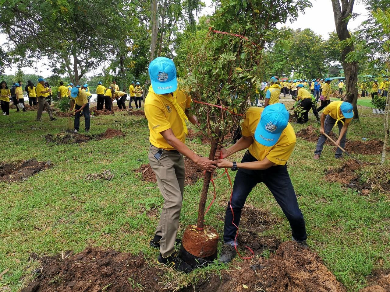 ไฟล์แนบ กปภ.สาขาศีขรภูมิร่วมโครงการจิตอาสา เราทำความดีด้วยหัวใจ  ร่วมกันปลูกต้นไม้