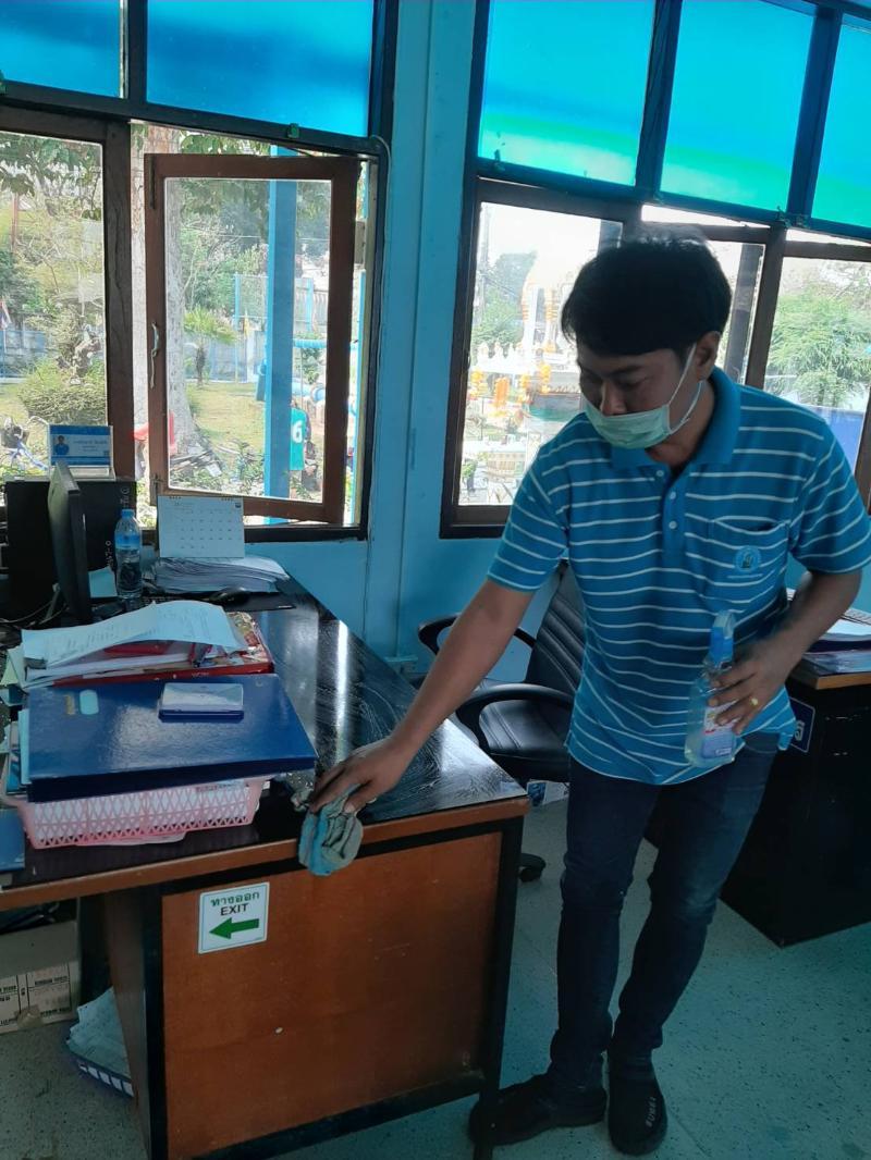 ไฟล์แนบ กปภ.สาขามหาชนะชัย จัดกิจกรรมทำความสะอาดเพื่อป้องกันและลดการแพร่ระบาด COVID-19